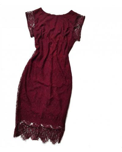 Гипюровое платье - бордовое Arjen