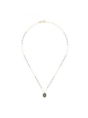 Złoty naszyjnik łańcuch - niebieski Gigi Clozeau