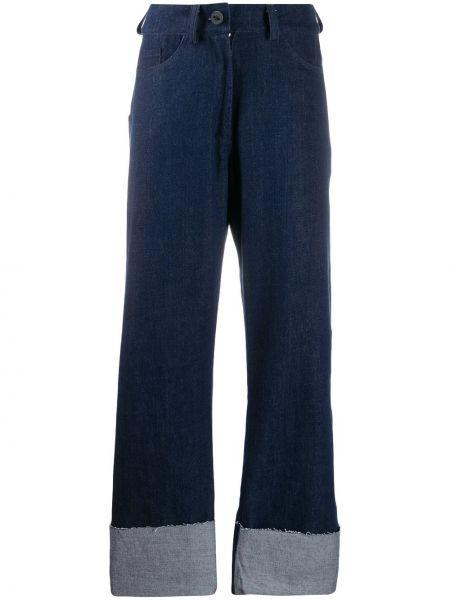 Расклешенные широкие джинсы с карманами Barbara Bologna