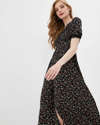 Черное платье а-силуэта Pinkkarrot