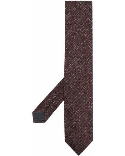 Красная шелковая резинка для волос с вышивкой Ermenegildo Zegna