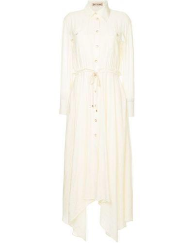 Платье миди на пуговицах батистовое Flow The Label