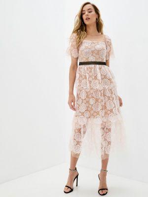 Розовое весеннее платье Rich & Naked