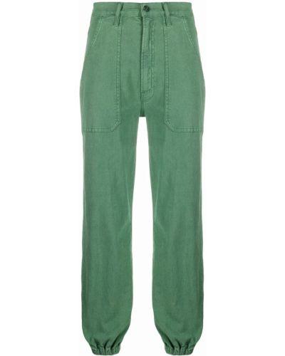 Хлопковые брюки с карманами на шпильке с накладными карманами Mother