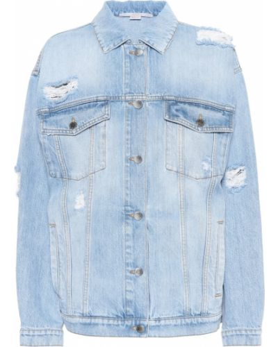 Джинсовая куртка оверсайз синий Stella Mccartney