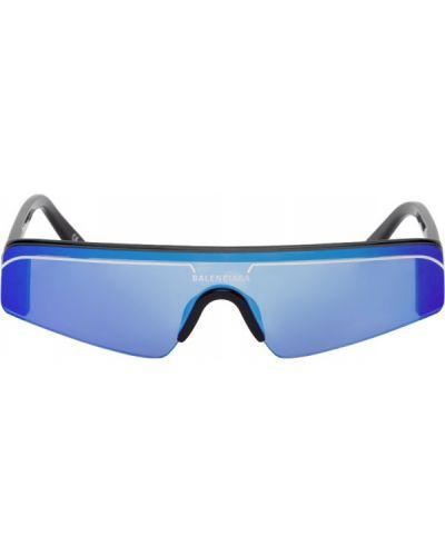 Кожаные белые солнцезащитные очки в полоску Balenciaga