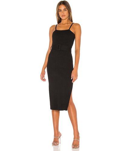 Черное платье с поясом из вискозы Finders Keepers