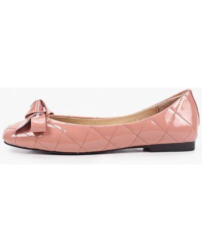 Лаковые кожаные розовые балетки Tuffoni