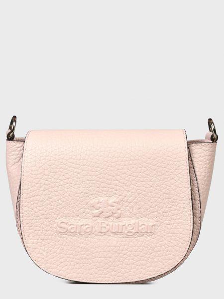 Кожаная сумка - розовая Sara Burglar