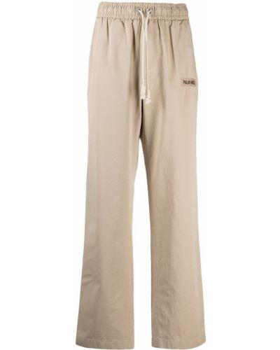Beżowe spodnie bawełniane Palm Angels