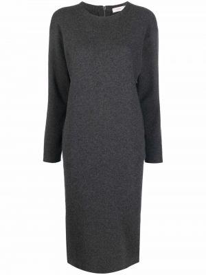Платье миди с длинными рукавами - серое Agnona