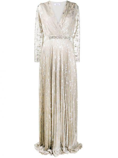 Вечернее платье длинное - желтое Blumarine