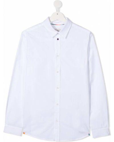 Классическая белая рубашка на пуговицах с воротником Paul Smith Junior