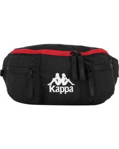 Спортивная черная поясная сумка Kappa