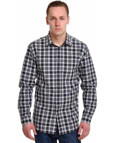 Серая рубашка хлопковая Ermenegildo Zegna