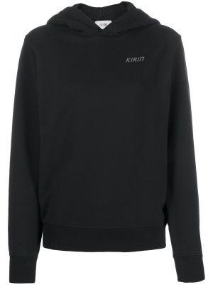 Czarna bluza z kapturem bawełniana Kirin