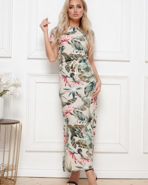 Платье миди из штапеля платье-сарафан Leleya