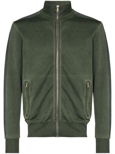 Prosto zielony długa kurtka z kieszeniami z długimi rękawami Palm Angels