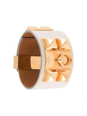 Biała złota bransoletka ze złota Hermes
