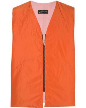 Оранжевая жилетка на молнии с вышивкой Zambesi
