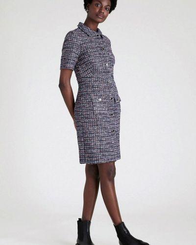 Фиолетовое платье-рубашка Marks & Spencer