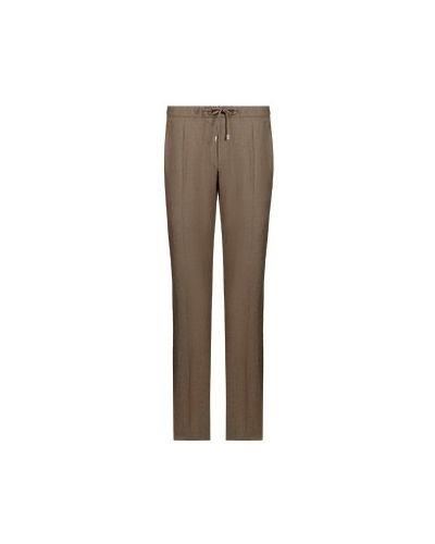 Шерстяные коричневые брюки повседневные Enrico Mandelli