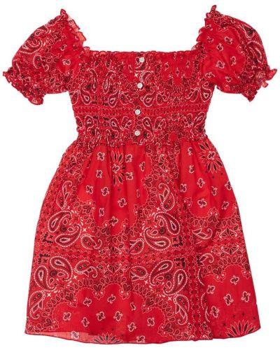 Платье с декольте из вискозы на резинке Mc2 Saint Barth