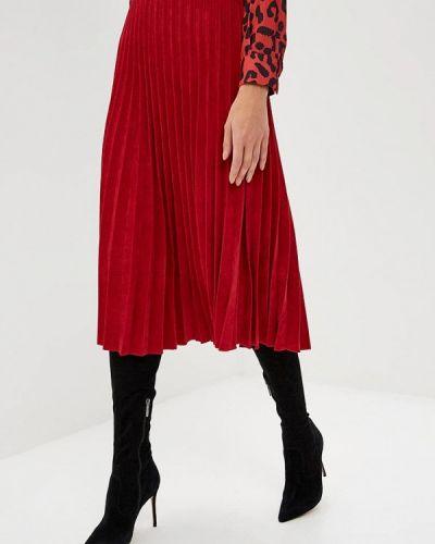 Плиссированная юбка итальянский красный Rinascimento