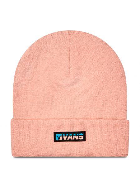 Różowa czapka beanie z akrylu Vans