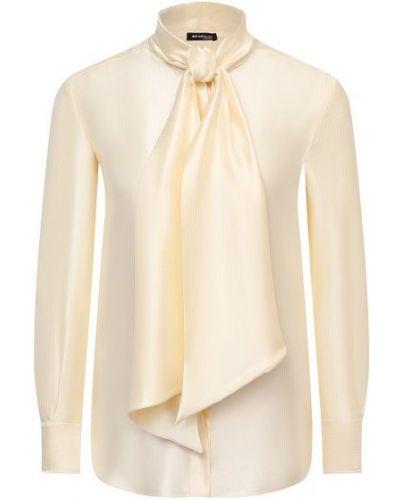 Шелковая блузка - желтая Kiton