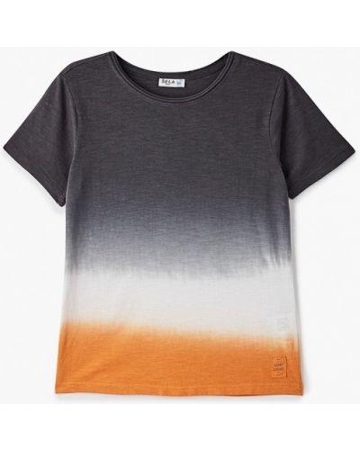 Серая с рукавами футболка Sela