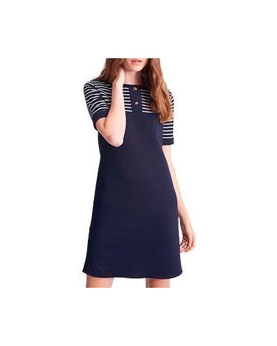 Деловое платье шерстяное синее Luisa Spagnoli