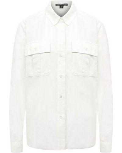 Хлопковая белая блузка James Perse