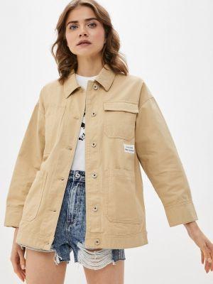Бежевая джинсовая куртка Ostin