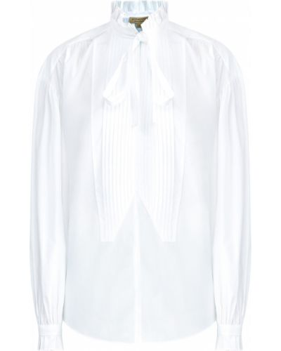 Блузка с рюшами спущенная Burberry