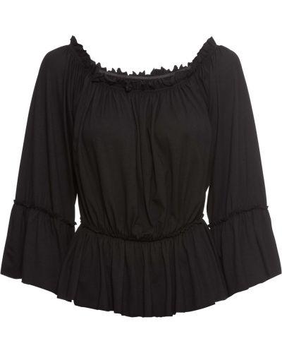 Блузка на резинке с вырезом Bonprix