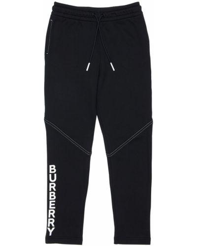 Bawełna bawełna czarny joggery z kieszeniami Burberry