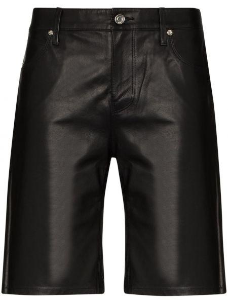 Кожаные шорты - черные Rta