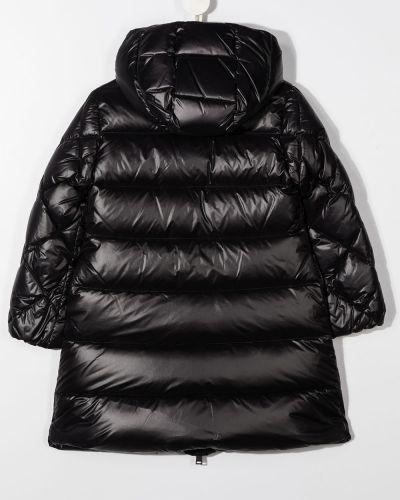 С рукавами черный пуховик с капюшоном Young Versace
