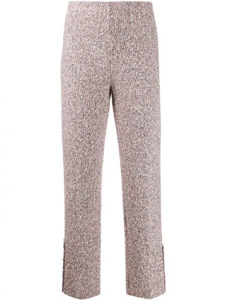Розовые брюки с воротником букле 20:52
