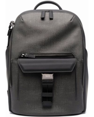 Czarny plecak z klamrą Tumi