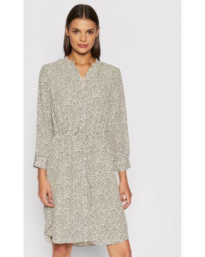 Sukienka - beżowa Selected Femme