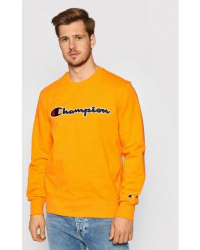 Satynowa pomarańczowa bluza Champion