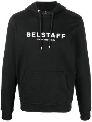 Czarna bluza długa z kapturem bawełniana Belstaff