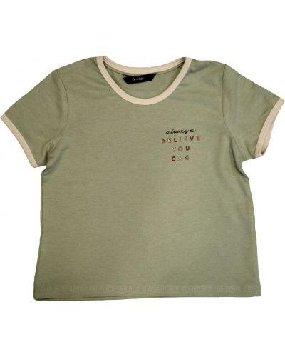 Хлопковая зеленая футболка с надписью George
