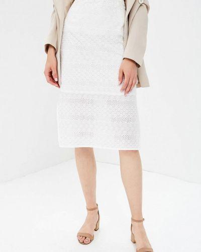 Белая юбка осенняя Yumi