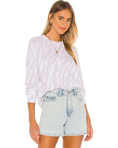 Fioletowy bawełna bawełna bluza Monrow