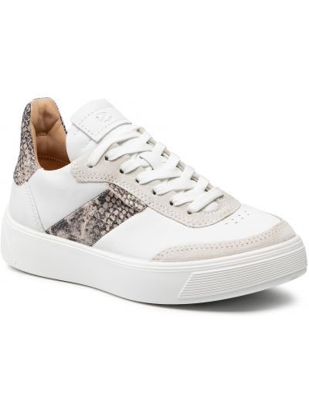 Buty sportowe skorzane - białe Ecco