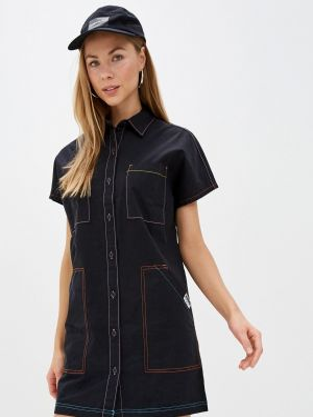 Платье платье-рубашка черное Vans