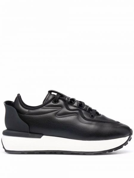 Кожаные кроссовки для бега - черные Le Silla